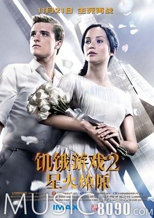 《饥饿游戏2:星火燎原》获得最佳影片、最佳男女主角三项大奖。