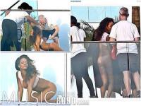 歌星蕾哈娜阳台拍写真 当众下半身全裸[图]