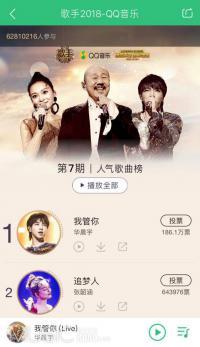 《歌手》开播半季获QQ音乐超6000万投票,歌手越战越勇成绩亮眼