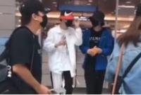 陈立农朱正廷韩国机场偶遇 两人有说有笑关系好